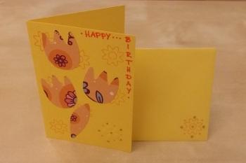 Geburtstagskärtchen mit Umschlag